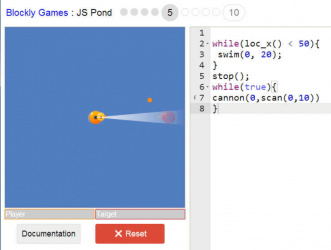 Pond-JS-game-of-Blockly-Games